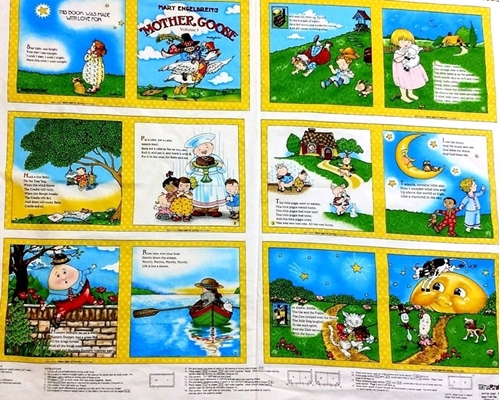 Mary Engelbreit Mother Goose Nursery Rhymes Volume 1 Fabric Book Craft