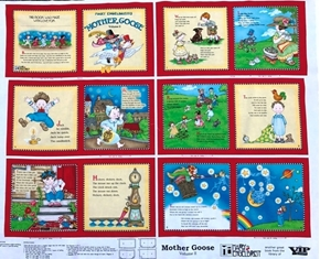 Mary Engelbreit Mother Goose Nursery Rhymes Volume 2 Fabric Book Craft