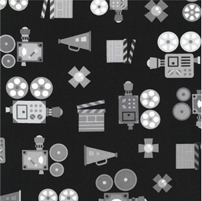 Let Me Entertain You Movie Filming Production Camera Cotton Fabric