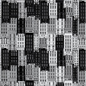 Picture of Britain's Best Housing Row Houses Buildings City Flats Cotton Fabric