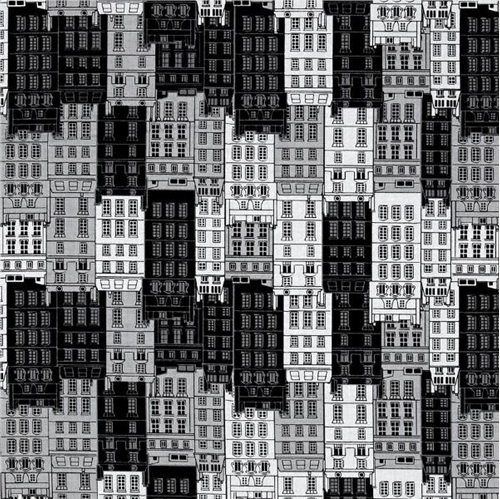 Britain's Best Housing Row Houses Buildings City Flats Cotton Fabric
