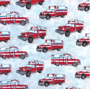 Picture of Emergency Paramedic Ambulance Emergency Health Services Cotton Fabric
