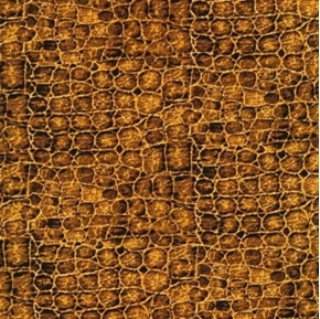 Jungle Party Reptile Skin Lizard Brown Cotton Fabric