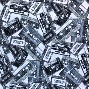 Rock Legends Music Cassette Tapes Audio Recording Cotton Fabric