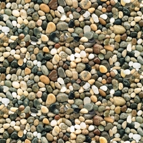 Landscape Medley Brown River Rock Pebbles Smooth Stones Cotton Fabric