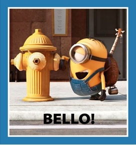 Picture of Millions of Minions Bello! Fire Hydrant 24x22 Fabric Pillow Panel