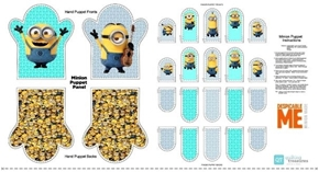 Millions of Minions Minion Hand Puppet 24x44 Cotton Fabric Craft Panel