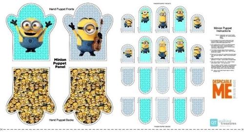 Millions of Minions Minion Hand Puppet 24x44 Cotton Fabric Craft Panel