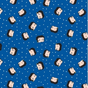 Picture of Betty Boop Red White and Boop Patriotic Faces Blue Cotton Fabric