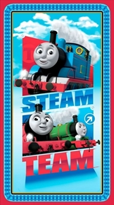 Picture of Steam Team Express Thomas the Tank Engine 24x44 Cotton Fabric Panel