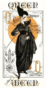 Picture of Queen of We'en Queen Sewing Potion Halloween 24x44 Cotton Fabric Panel