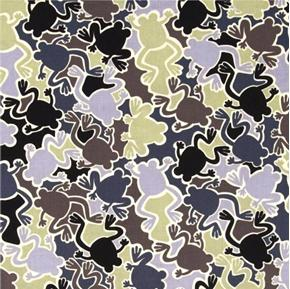 Picture of Camo Mix Camo Frog Grey Frogs Camouflage Cotton Fabric