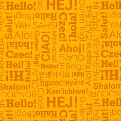 Cotton fabric ethnic fabric our world hello greetings many our world hello greetings many languages ciao hola hi cotton fabric m4hsunfo