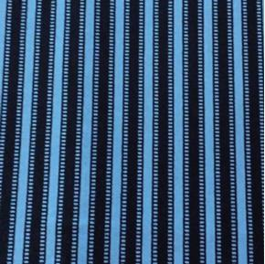 Sketchbook Woven Stripe Film Strip Black and Blue Cotton Fabric