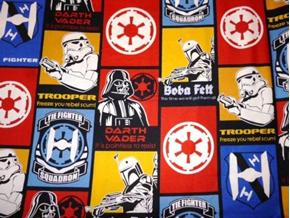 Star Wars Recruitment Poster Trooper Fighter Squadron Cotton Fabric