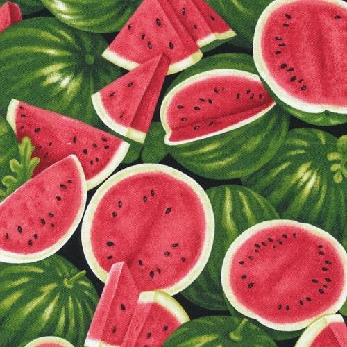 Farmer Johns Garden Party Fresh Watermelon Melons Cotton Fabric