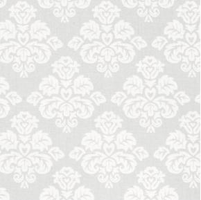 Something Old Something New Bridal Brocade Damask Grey Cotton Fabric