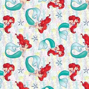 Picture of Disney Dream Princess Ariel The Little Mermaid Starfish Cotton Fabric