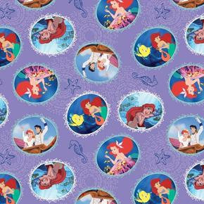 Disney Fairy Tail Ending The Little Mermaid Movie Ariel Cotton Fabric