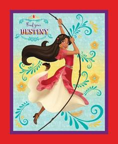 Disney Elena of Avalor Find Your Destiny Large Cotton Fabric Panel