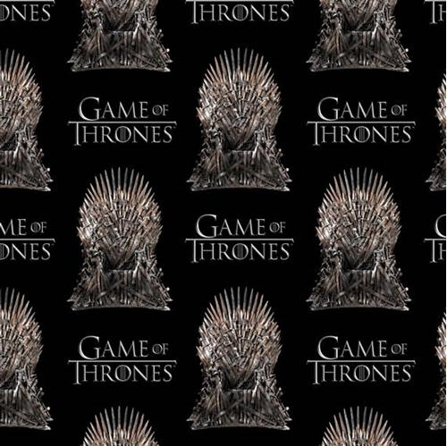 Picture of Game of Thrones The Iron Throne HBO Series Black Cotton Fabric