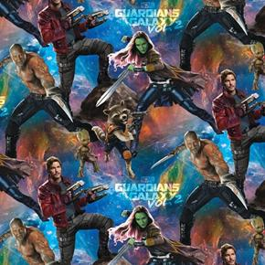 Guardians of the Galaxy Packed Gamora Drax Rocket Cotton Fabric
