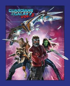 Guardians of the Galaxy Gamora Rocket Starlord Cotton Fabric Panel