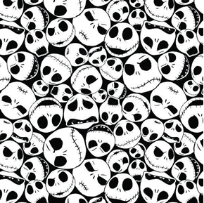 Nightmare Before Christmas Packed Jack Cotton Fabric
