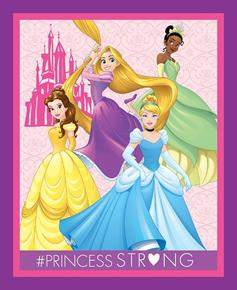 Picture of Disney Dream Big Princess Strong Large Cotton Fabric Panel
