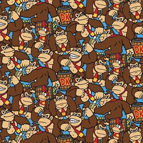 Picture of Nintendo Kong Allover Donkey Kong Video Game Cotton Fabric