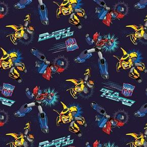 Transformers Autobots Be A Hero Optimus Bumblebee Blue Cotton Fabric