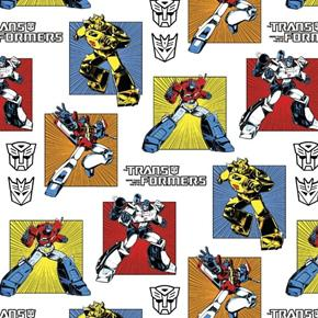 Transformers Generations Classic Transformer White Cotton Fabric