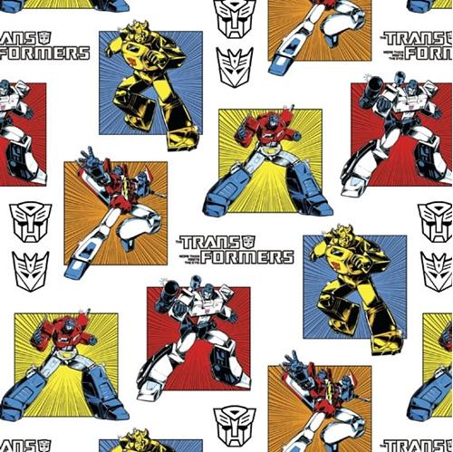 Picture of Transformers Generations Classic Transformer White Cotton Fabric