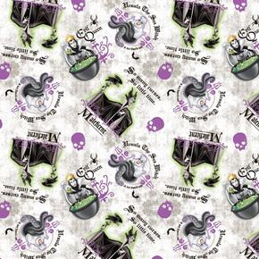Picture of Disney Villain Patch Ursula Maleficent Evil Queen Cotton Fabric