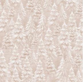 Woodland Wonder Tree Blender Snowy Trees Light Brown Cotton Fabric