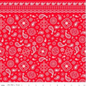 Cowboy Bandanas Bandana Pattern Red Cotton Fabric