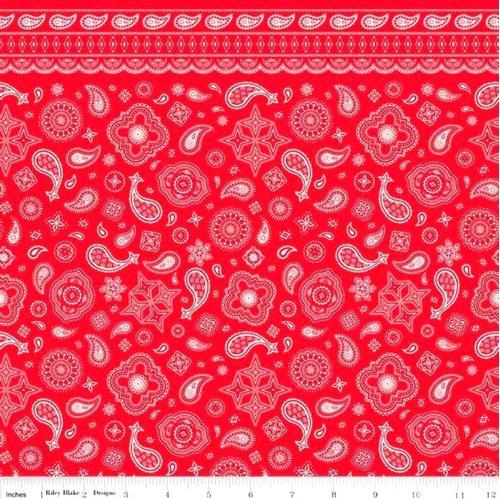 Cotton Fabric Pattern Fabric Cowboy Bandanas Bandana Pattern Red Best Bandana Pattern