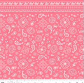 Cowgirl Bandanas Bandana Pattern Pink Cotton Fabric