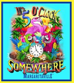 Margaritaville It's 5 O'clock Somewhere 24x22 Fabric Pillow Panel