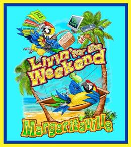 Margaritaville Living for the Weekend 24x22 Fabric Pillow Panel
