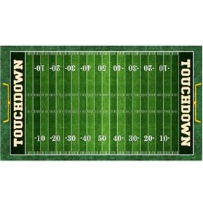 Picture of Gridiron Football Field 24x44 Green Cotton Fabric Panel