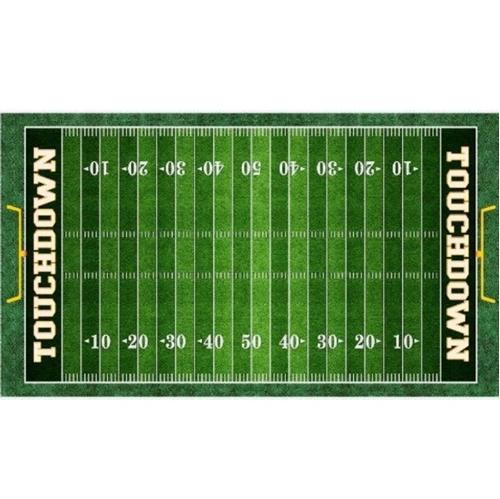 Gridiron Football Field 24x44 Green Cotton Fabric Panel