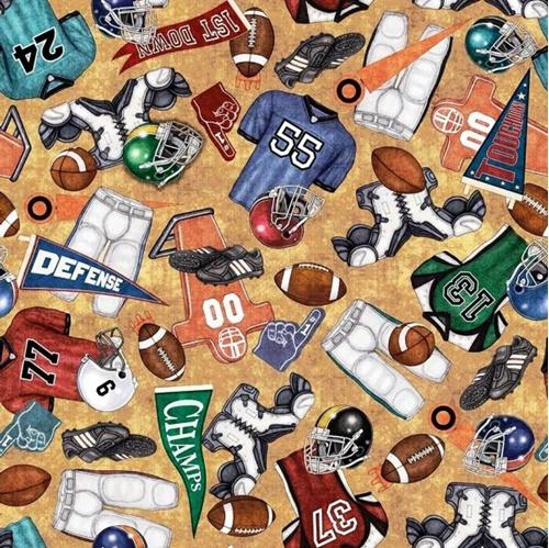 Picture of Gridiron Everything Football Equipment Fan Gear Tan Cotton Fabric