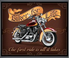 Picture of Biker For Life Motorcycle Large Cotton Fabric Panel