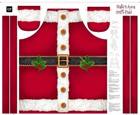 Sew & Go Santa's Apron Christmas Holiday Cotton Fabric Craft Panel