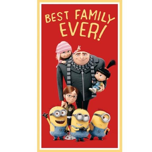 Picture of Best Family Ever Despicable Me Gru Edith Agnes 24x44 Fabric Panel