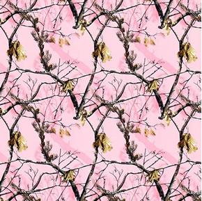 Realtree Pink Camouflage Camo Branches Cotton Fabric