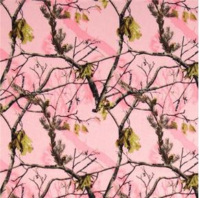 Picture of Flannel Realtree Pink Camouflage Camo Branches Cotton Fabric