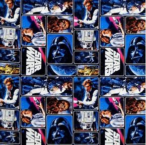 Picture of Star Wars Classic R2D2 Skywalker Chewbacca C3PO Patch Cotton Fabric