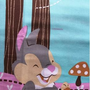 Imperfect Disney Bambi Woodland Dreams Large Cotton Fabric Panel